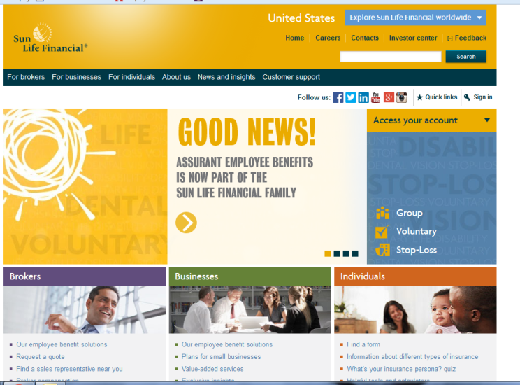 sunlife website