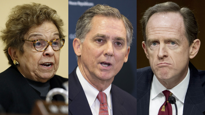 As of now, Sen. Pat Toomey, R-Pa., and Reps. French Hill, R-Ark., Donna Shalala, D-Fla., and Bharat Ramamurti, a former adviser to Sen. Elizabeth Warren, D-Mass., have been appointed to serve on the commission.