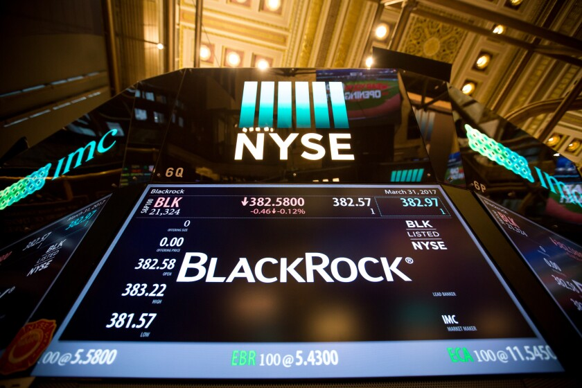 NYSE BlackRock Tickr Image for March 2017