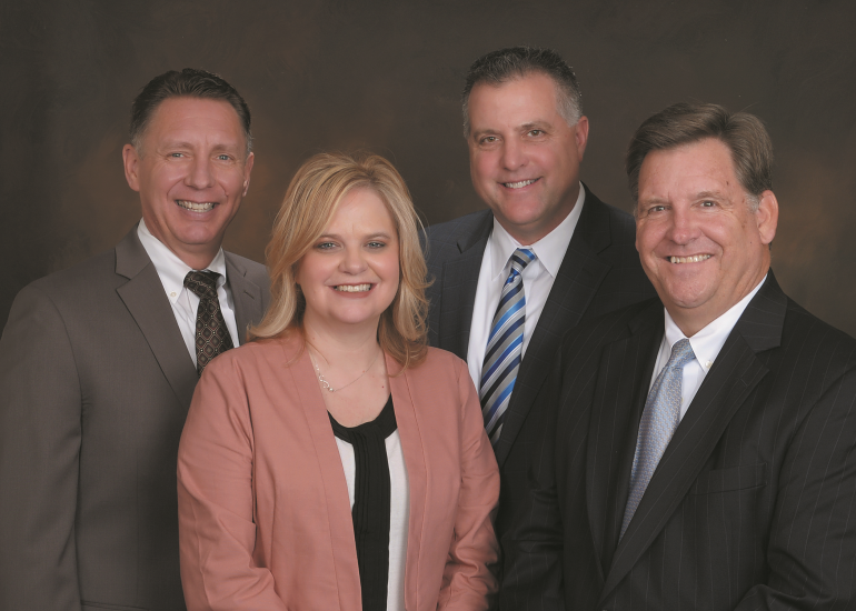 RBC wealth management team Paul DeBey (left), April Emeola, Chris Cassaday, Jeff Bahnson (right) April 2017