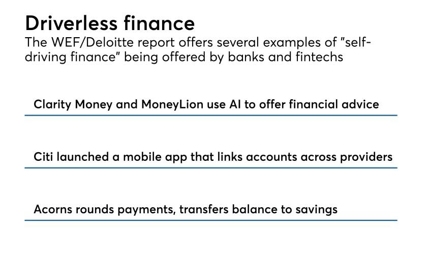 Driverless finance