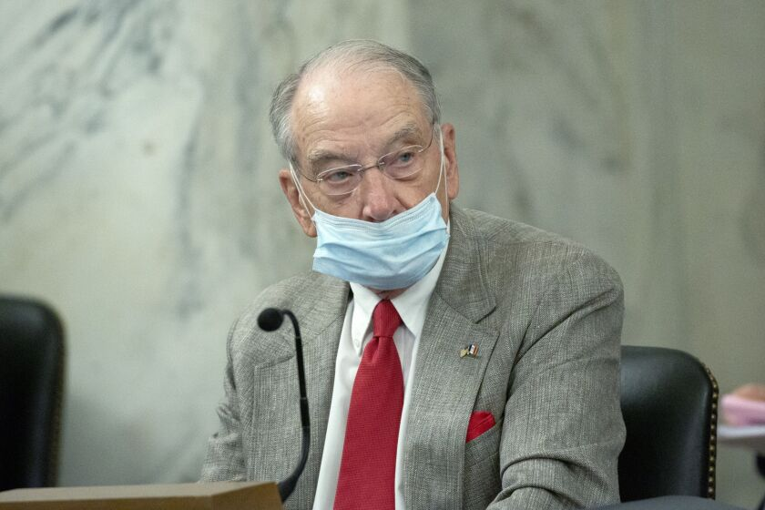 Senator Chuck Grassley, a Republican from Iowa, released a stimulus plan that provides enhanced federal unemployment insurance and direct stimulus payments, but does not provide a more direct way of getting funds to taxpayers.