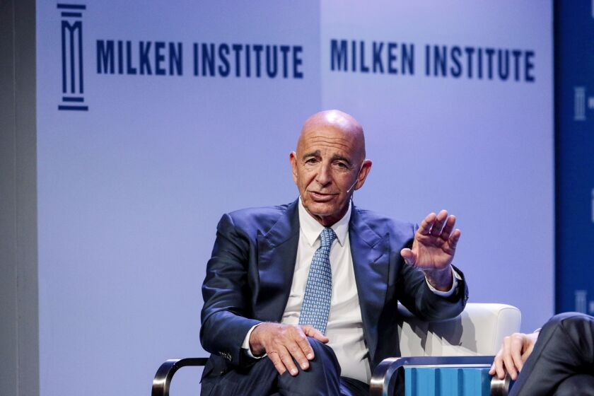 Colony Capital CEO Tom Barrack said on Sunday that the U.S. commercial-mortgage market is on the brink of collapse.