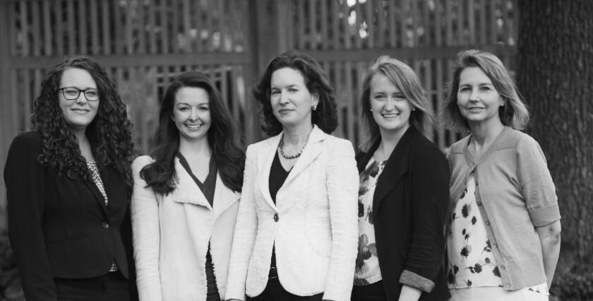 The Bowersock Capital Partners team: Amy Clark, Kaylin Dillon, Emily Bowersock Hill, Kristine Flynn, and Kathy Olds