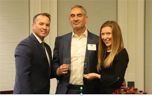 Michael Sharp getting award