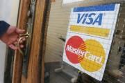 Visa and Mastercard acceptance sticker
