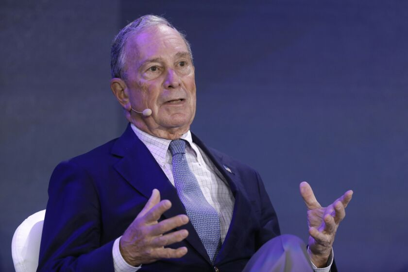 """""""The Trump administration has been eroding safeguards designed to make the financial system a source of strength, rather than an agent of contagion,"""" Democratic presidential candidate Michael Bloomberg's nine-page financial reform outline says."""