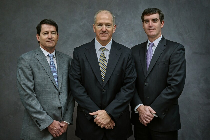 Advisors Steve Longo, his uncle Ted Longo, and Chris Collins will open a new Sanctuary Wealth office in New Orleans.