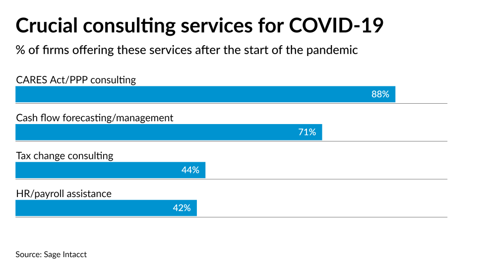 Firm services during pandemic CARES Act PPP chart