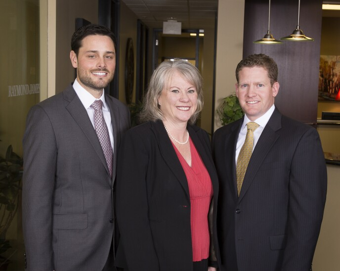 A.J. Schultz, Janis Cross, Matthew West Raymond James advisers