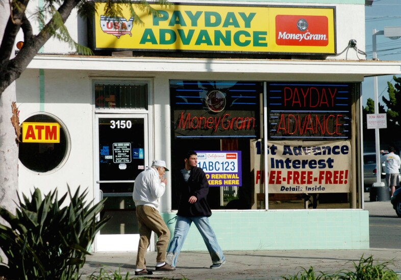 Payday advance storefront