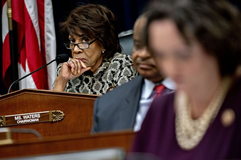 Rep. Maxine Waters, D-Calif., who chairs the committee, told reporters on Thursday that she will ask Elizabeth Duke and Richard Quigley to resign, and indicated that board members at other large banks could be on the hook in the future if a bank fails to comply with consumer regulations.