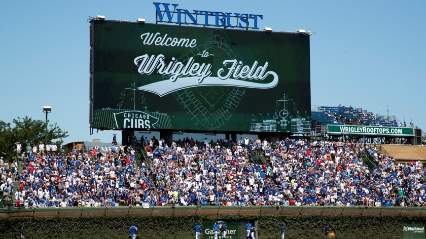 Wintrust Financial has sponsorship deals with three Major League Baseball franchises, including the Chicago Cubs.