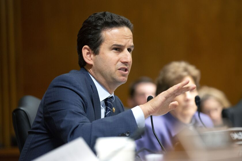 """Sen. Brian Schatz of Hawaii is among the Democratic senators urging the Fed to implement """"across-the-board"""" dividend suspensions at banks it regulates."""