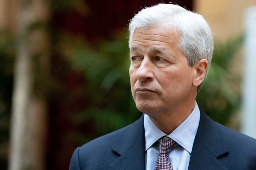 """JPMorgan Chase's Jamie Dimon says Joe Biden """"is a compromiser, a unifier in a good way by nature."""""""