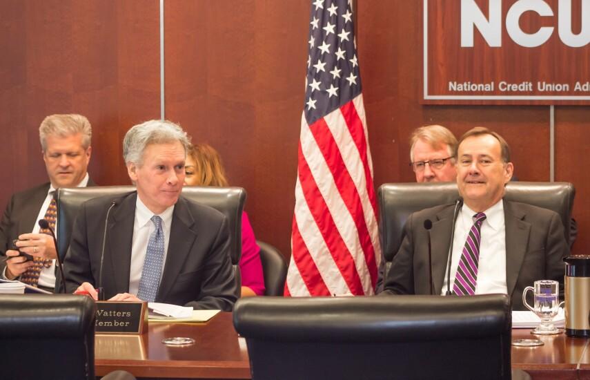 Mark McWatters Rick Metsger NCUA Board