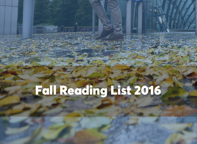 Fall reading list 2016