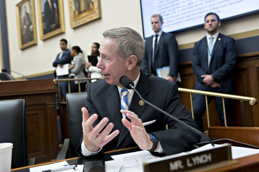 Representative Stephen Lynch, a Democrat from Massachusetts, speaks during a House Financial Services Committee hearing.
