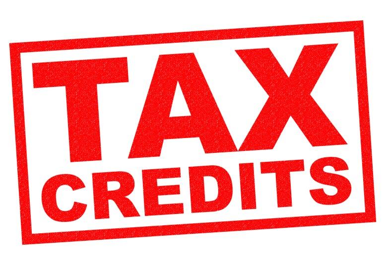 Tax credits sign