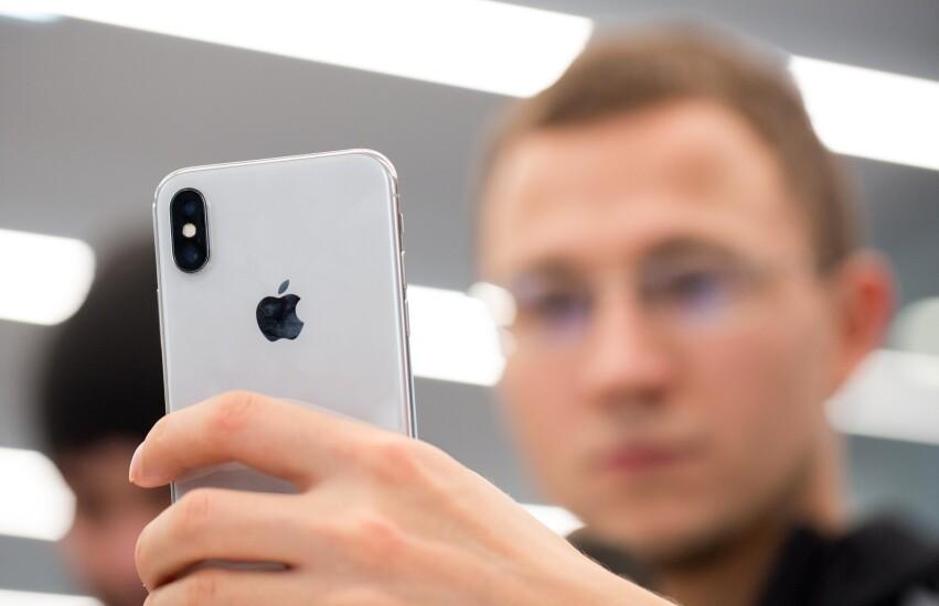 iPhone X user