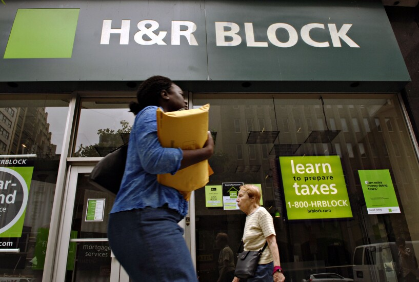 An H&R Block tax prep office