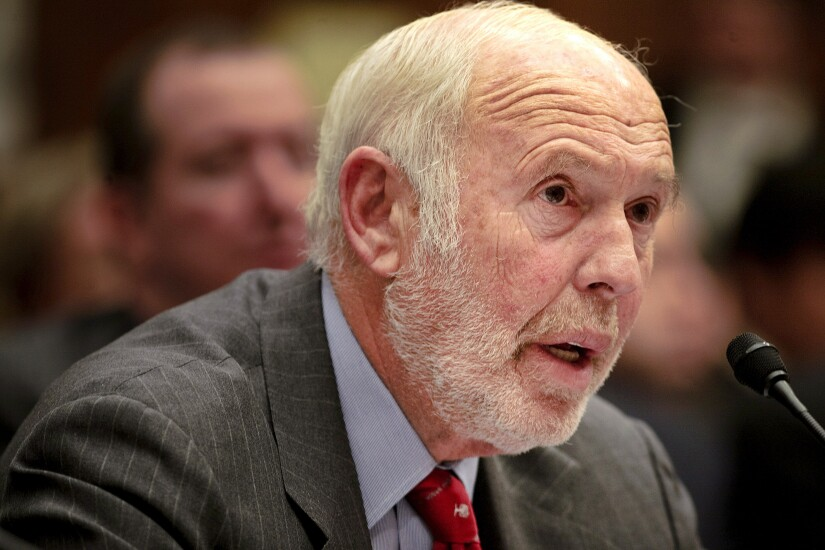James Simons, director of Renaissance Technologies, testifies during a House Committee on Oversight and Government Reform hearing on Capitol Hill in Washington, D.C.