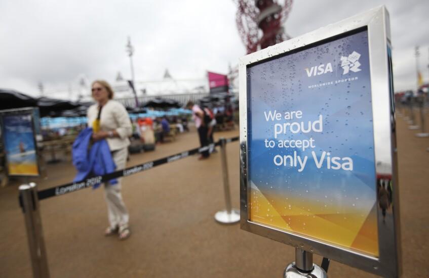 Visa signage at the 2012 London Olympics