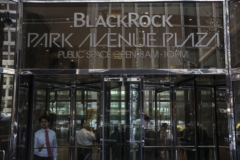 """BlackRock has a $1.8 trillion active management business, which it said will be """"fully ESG integrated"""" by the end of the year, meaning its portfolio managers will be accountable for managing their exposure to environmental, social and governance risks."""