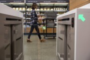 Amazon Go turnstile entrance