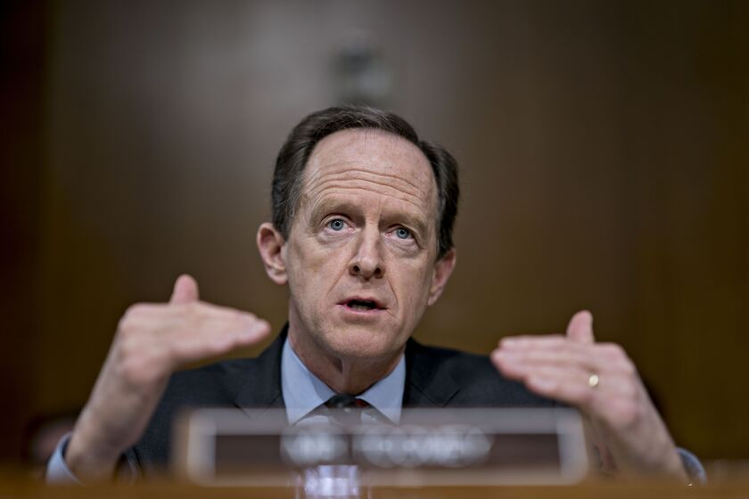 """These were always meant to be very temporary facilities,"" Sen. Pat Toomey, a Pennsylvania Republican, said of federal coronavirus relief programs that the Treasury Department said would expire at the end of the year over objections from the Federal Reserve."