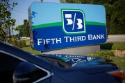 Signage is displayed outside a Fifth Third Bank branch in Louisville, Kentucky.