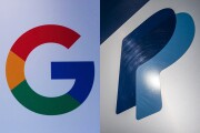 Logos for Google and PayPal