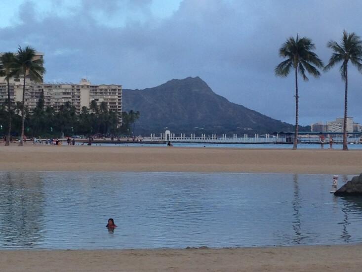 Diamond Head from Waikiki at NAFCU 50th annual meeting - CUJ 062017.JPG