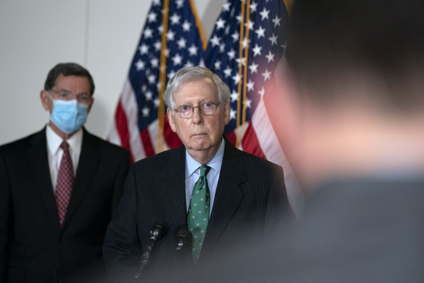 """When the full Senate returns on October 19th, our first order of business will be voting again on targeted relief for American workers, including new funding for the PPP,"" said Senate Majority Leader Mitch McConnell."