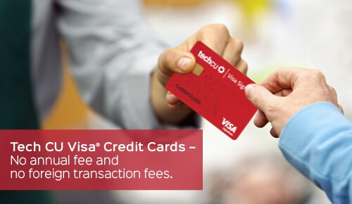 Marketing for Technology Credit Union's in-house credit card program