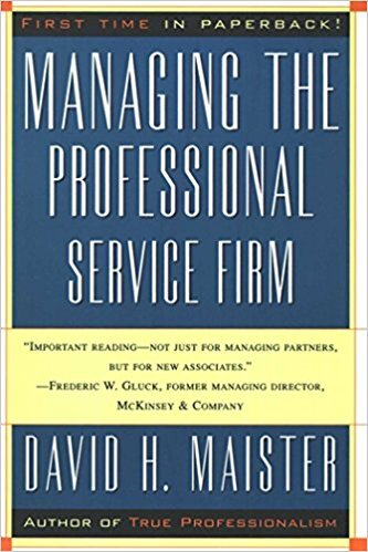 Book cover - Managing the Professional Services Firm