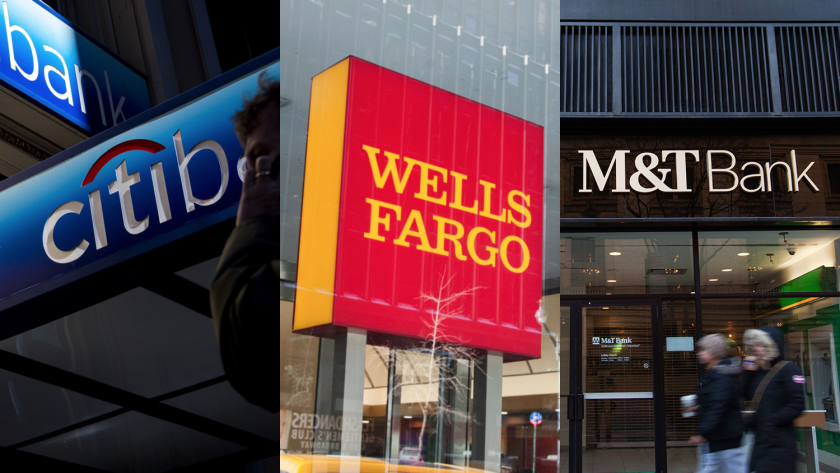 Triptych of Citigroup, Wells Fargo, M&T