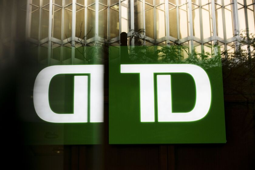 Toronto-Dominion Bank, Canada's second-largest lender, expects to set aside more than $1 billion in loss reserves tied to its U.S. retail operations when it reports earnings next week.