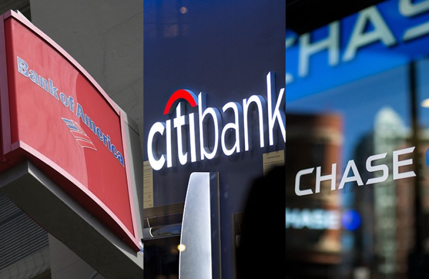 Bank of America, Citi and JPMorgan Chase were among the large banks that reported gains in mortgage originations in the first quarter.