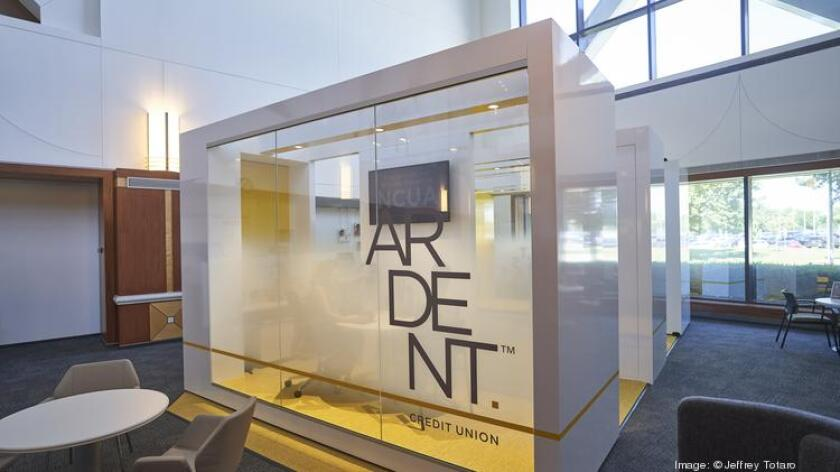 "Ardent Credit Union's patented ""Cube"" branch"