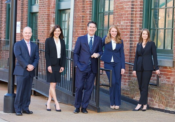 A photo of the team at Seyle Hickey Wealth Management. From left: Tim Hickey, Kristin DeLong, Rusty Seyle, Alison Ehret, Marisa Gurnari. Photo courtesy Raymond James.