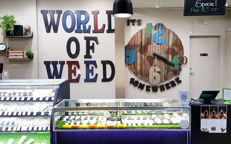World of Weed signage