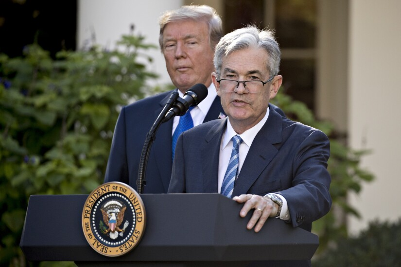 Fed Chair-designate Jerome Powell with President Trump