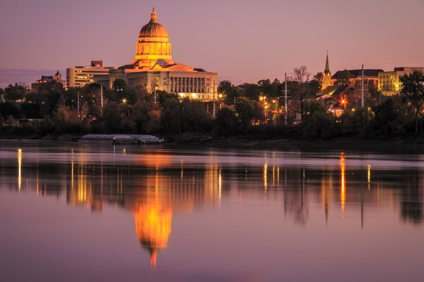 Jefferson City, Missouri skyline