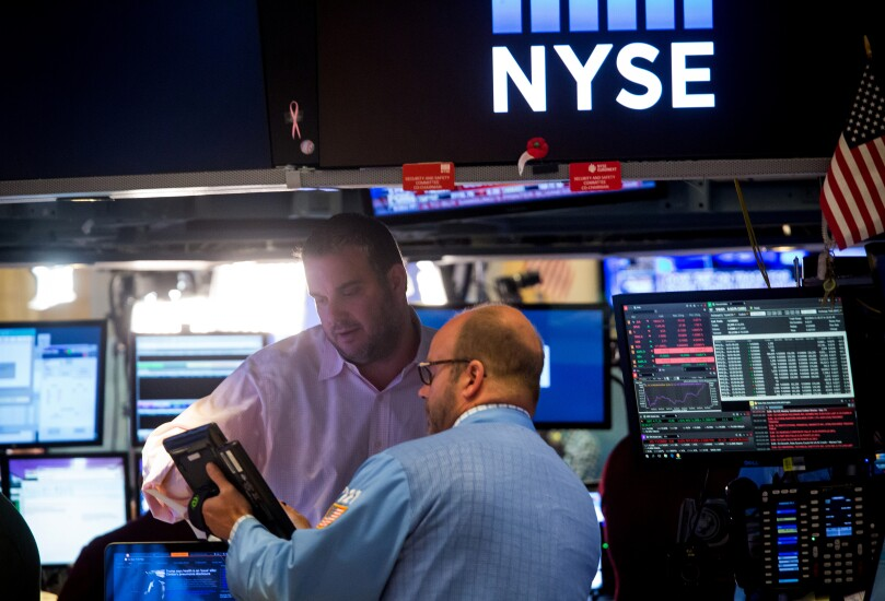 NYSE stock by Bloomberg News