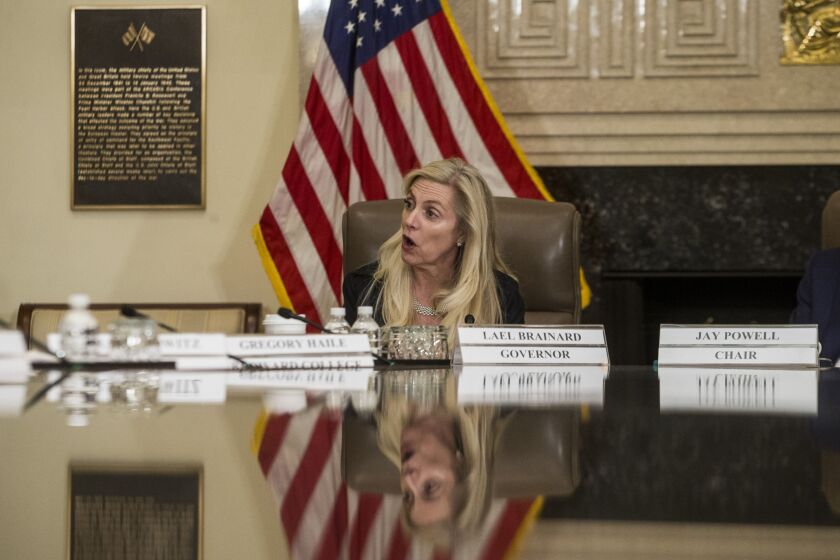 """""""To ensure that society benefits from the application of AI to financial services, we must understand the potential benefits and risks, and make clear our expectations for how the risks can be managed effectively by banks,"""" said Fed Gov. Lael Brainard."""