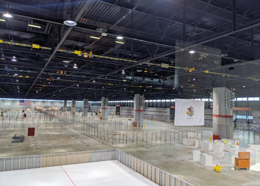The Army Corps of Engineers, Chicago District, constructed a COVID-19 alternate care facility at McCormick Place in Chicago this month.