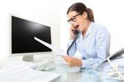 Woman screaming at phone