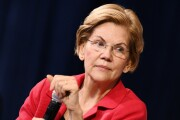 Cropped Senator Elizabeth Warren, Democrat from Massachusetts and 2020 presidential candidate, in Las Vegas, on Oct. 2, 2019