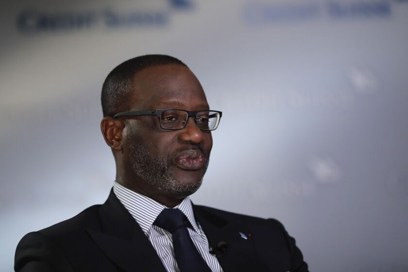 Tidjane Thiam, chief executive officer of Credit Suisse Group.